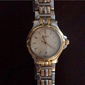 Authentic Gucci silver and gold tone watch